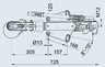 Тормоз наката ПРОФИ V-обр. 3000 кг с ЗУ для к.т. 2361