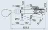 Тормоз наката ПРОФИ V-обр. 3000 кг к.т. 2361 без замкового устройства