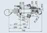 Тормоз наката ПРОФИ V-обр. 3500 кг для к.т. 2361 без замкового устройства