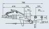 Тормоз наката VKT 70 90 S/3 под квадрат 70 мм для к.т. 1637 / 2051