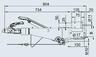 Тормоз наката VKT 100 161S под квадрат 100 мм (к.т. 1637/2051)