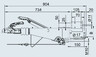 Тормоз наката VKT 100 161S под квадрат 100 мм (к.т. 2361)