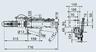 Тормоз наката V-образный 251S с центральным кронштейном для установки опорного колеса