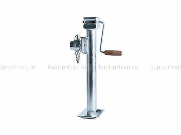 Поворотная телескопическая домкратная опорная стойка на 1000 кг с фланцем