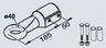 Сцепная петля Англия d=40 мм с крепежом