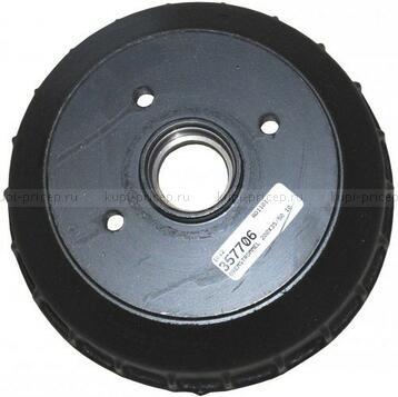 AL-KO-357706 Тормозной барабан для тормоза 2035-2050-2051, ступица 100х4 (под конич.подшип.)