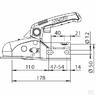 Замковое устройство AK 270 с проставками и крепежем