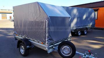 ТК-251415С Тент с каркасом аэродинамический для прицепа МЗСА 817704 (h=150 см)