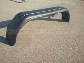 Крыло двухосного прицепа пластиковое черное 1550х390х235