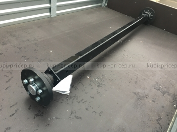 Ось 1800 кг для рессорной подвески прицепа без тормоза