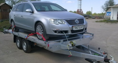 Как крепить автомобиль на прицепе-автовозе