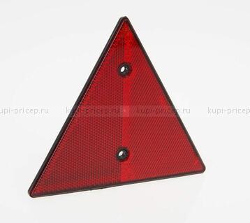 Отражатель (катафот) треугольный красный DOB-031