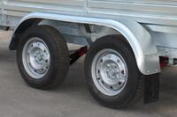 Крыло металлическое для двухосного легкового прицепа МЗСА