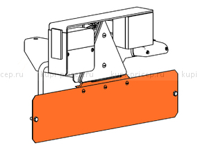 Подвеска регистрационного знака для лодочного прицепа МЗСА