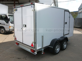 Двухосный прицеп-фургон Исток с аэродинамическим скосом