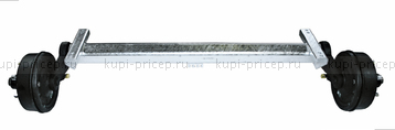 Ось резино-жгутовая с тормозом 3500 кг, к.т. 3081В 205х6