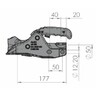 Замковое устройство AK 301 Profi V с защитой бампера, крепежом и противоугонным устройством