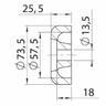 Торцевая крышка Profi RP-325 73.5х25.5 мм