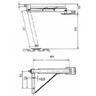 Универсальная винтовая опорная стойка для торговых прицепов 600 кг арт. 205714